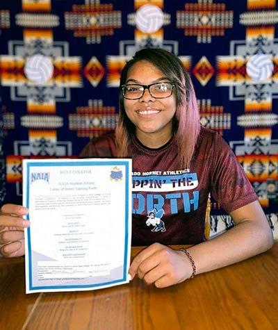 Ganado grad signs with Rust College