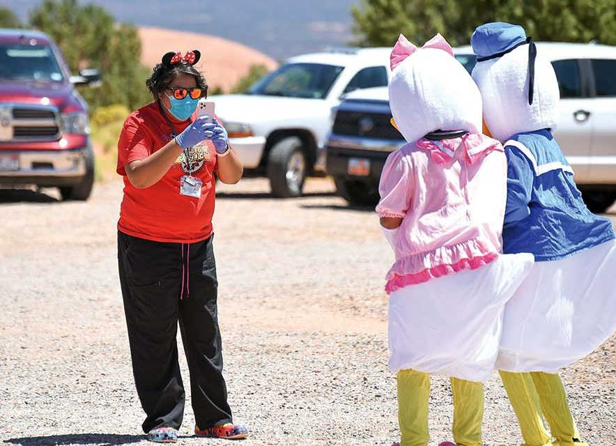 In Utah, a travelling troupe of Disney characters reassures children