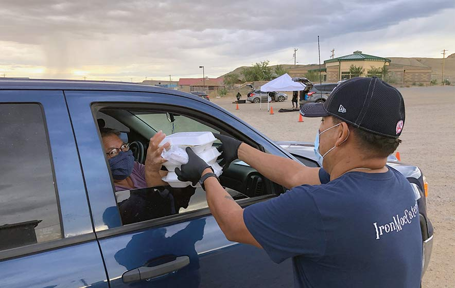 Caterer salvages his business with drive-through meals