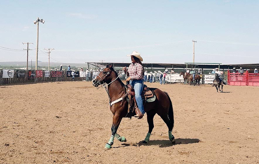 Following big footsteps: For young roper, it comes down to little things