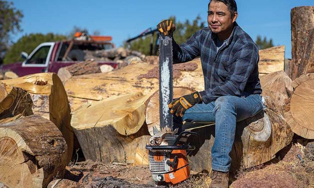 Firefighter turns to wood hauling during off-months