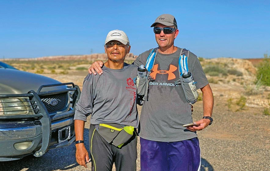 'Closing the gap':  Runner learns he's not only helping himself to better health