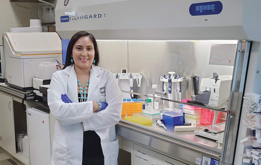 On the front line:  Diné scientist working toward cure for COVID-19