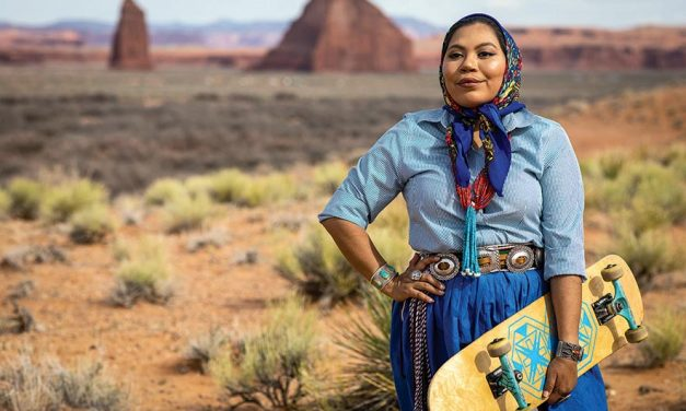 Diné weaver skates into new role as style icon