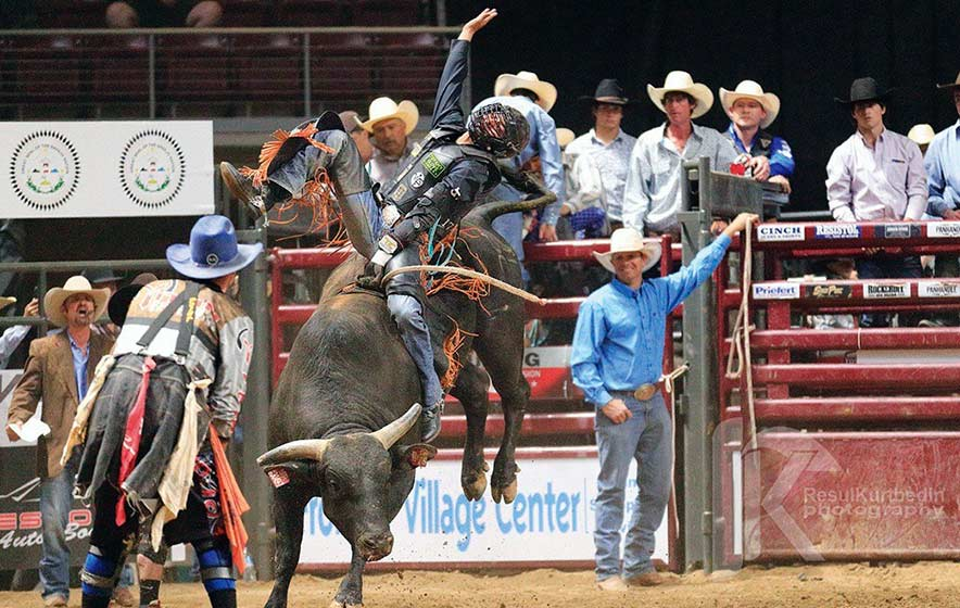 After a year layoff, Sawmill bull rider wins PBR event