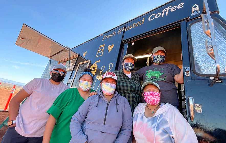 'You've got to grind the beans':  Sisters 'stay grounded' with coffee truck business