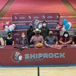 Shiprock football player signs on for college