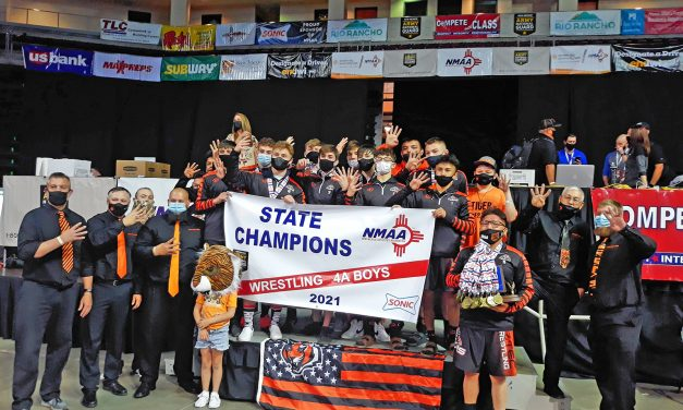 Eight locals win state wrestling titles: Aztec captures fourth straight team title