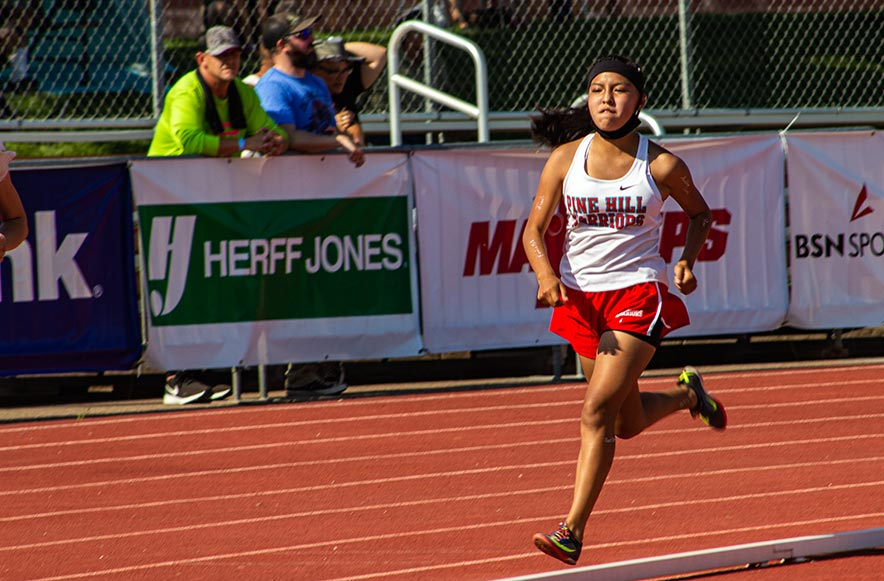 Pine Hill girls win 3 golds, Ramah boys 2 in state track