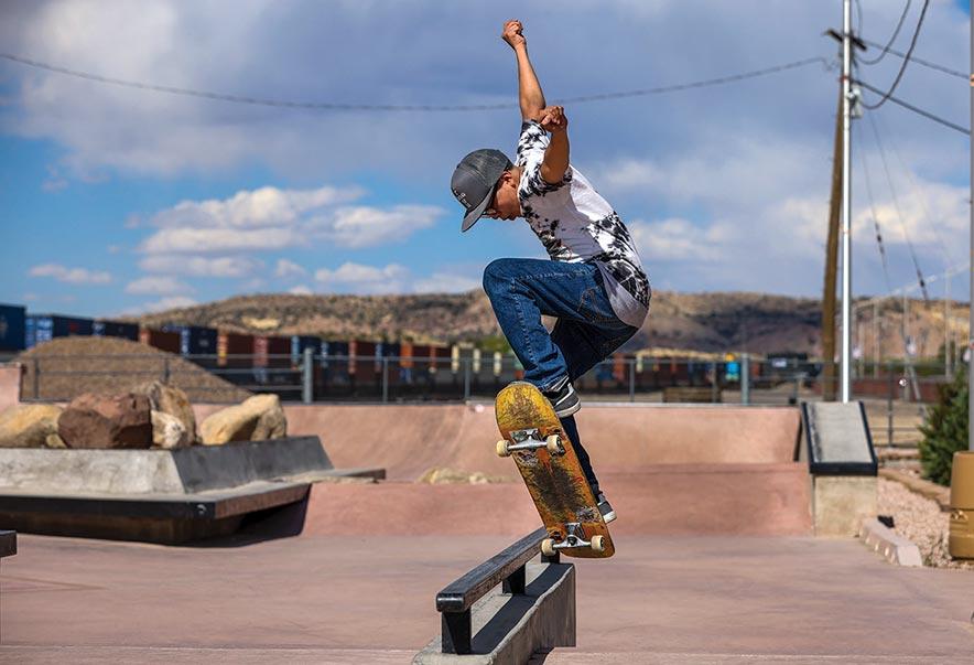 Bonding family: Skate shop sponsors 'little brother'