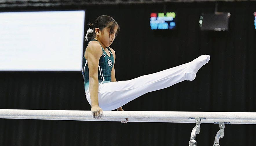 Blazing a new trail: Navajo gymnast represents culture on national level