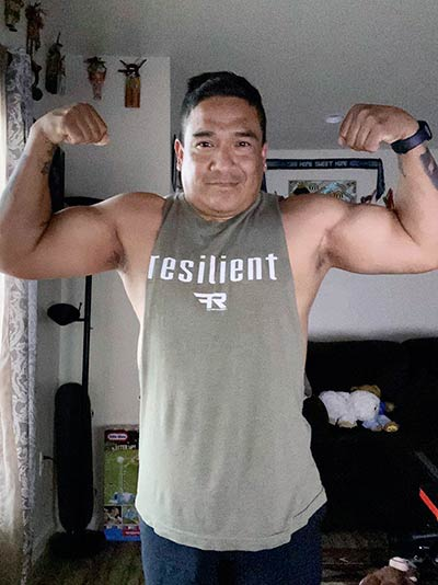 'Stay in the fight and embrace strength': Tuba City man gains fame in Muscle & Fitness Magazine competition
