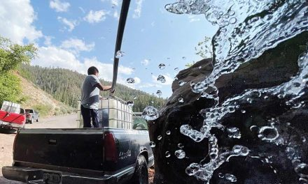 Artesian wells provide drinking water for families