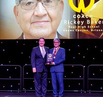 Hopi Coach Rick Baker put into NFHS National Hall of Fame