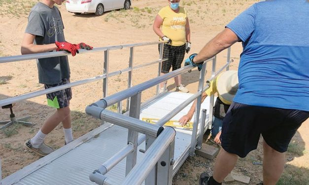 New ramp built to help elder's mobility