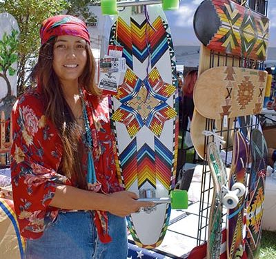 Artist: Native Olympians wanted: Skateboarder builds business with eye on youth