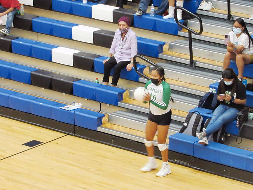 Lady Warriors volleyball squad improving team chemistry