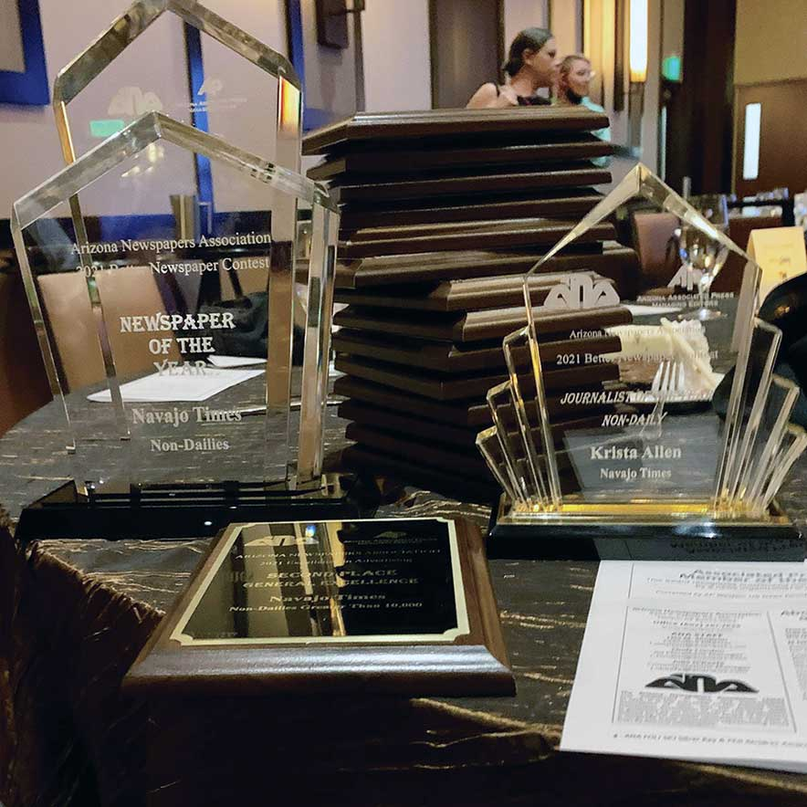 Navajo Times wins Newspaper of the year award; staff earn 33 better newspaper awards