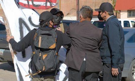 Nez, protestor involved in alleged 'scuffle'